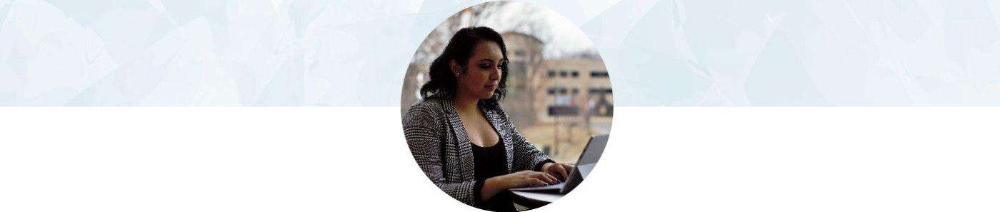 Vanessa with laptop