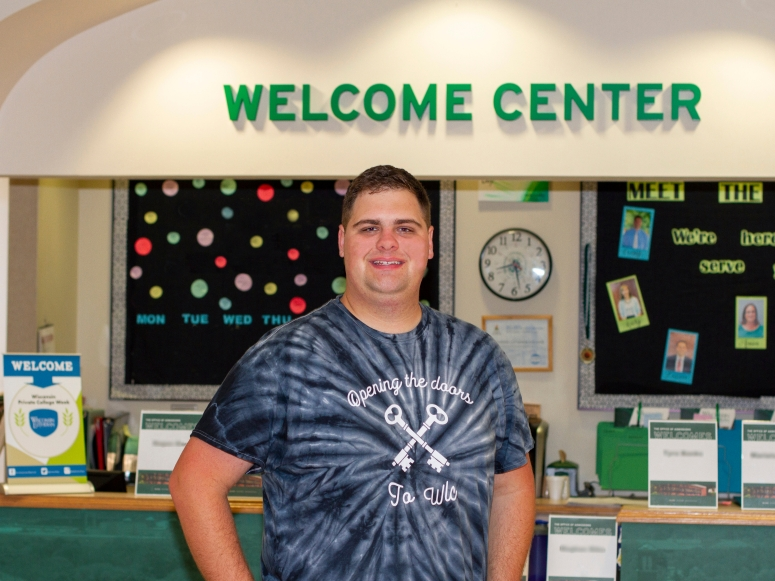 Adam Pagel at WLC Welcome Center